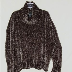 Brown Cynthia Rowley Chenille Sweater